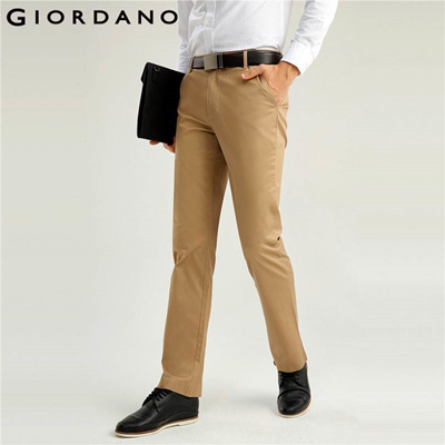 92b5229d0c0 Men Khaki Pants Slim Fit Quality Trousers Cotton Business Casual Modern  Non-Iron Flat Front