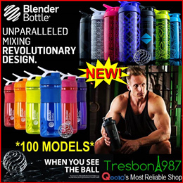 ★GSS BPA Free Blender Bottle Protein Powder Shake Shaker Water WHISK BALL Sports Mix Mixer