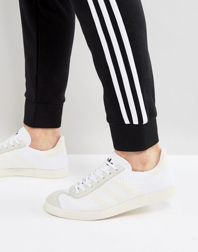 detailed images huge sale online for sale adidas Originals Gazelle Primeknit Sneakers In White BZ0005