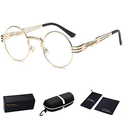 48434f61a1 Qoo10 - Dollger Round Clear Sunglasses Gold Metal Frame John Lennon ...