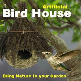 Hand Woven Grass Bird House