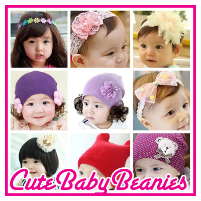 NEW DESIGNS!! Baby beanies headbands cap hat wigs costume on SALE!! UNISEX Good quality beanie Deals for only S$15.9 instead of S$0