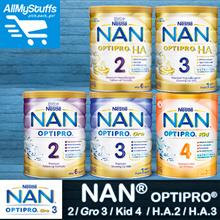 【Nestle Nan】OPTIPRO 2/3 • OPTIPRO H.A 2/3 800g • KID 4 900g • Milk Formula • Premium Hypoallergenic