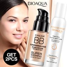 BIOAQUA Moisturizing Spray + Super Wearing Persistent Water Flawless BB Cream