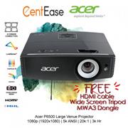 Acer P6500 Large Venue Projector- 1080p (1920x1080)  5k ANSI  20k:1  3k Hr