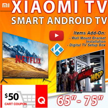 $50 COUPON DISCOUNT Smart XIAOMI Android TV V4 65 75inch 1year warranty FREE SHIPPING
