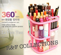 [new replenish]KOREAN 360 Degree Rotating Cosmetic Organizer La Vien Tree Makeup case holder