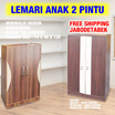 GRACE Lemari Pakaian Anak 2 Pintu  / Free shipping jabodetabek