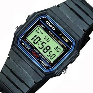 9bbe7c183122 CASIO F91W-1A DIGITAL BLACK RESIN Classic Sports Alarm Chronograph WATCH NEW