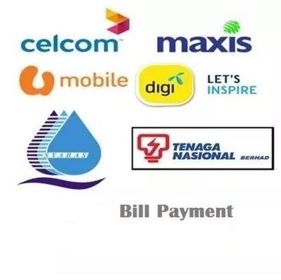 Bill Payment RM30 (ASTRO CELCOM DIGI MAXIS U MOBILE SYABAS  TM TNB UNIFI)