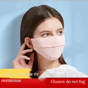 Mask summer ice silk mask anti-ultraviolet breathable ear-mounted face mask