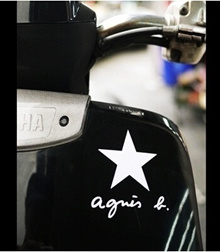 Agnes.b star reflective stickers stickers stickers decals