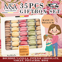 35 Pieces Macarons Giftbox Set! Limited Quantity Available!