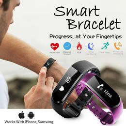 [JD Mall]★Smart Bracelet Fitness Tracker Step Counter Fitness Band Alarm Clock Vibration Wristband