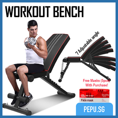 [S$79.00](▼74%)[PePu][Workout bench] Foldable abdominal multi-function Exercise Device | Home gym | Training exercise