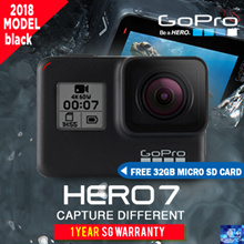 FREE 32GB MICRO SD CARD * GOPRO HERO 7 BLACK ACTION CAMERA * 1 YEAR WARRANTY * FREE DELIVERY
