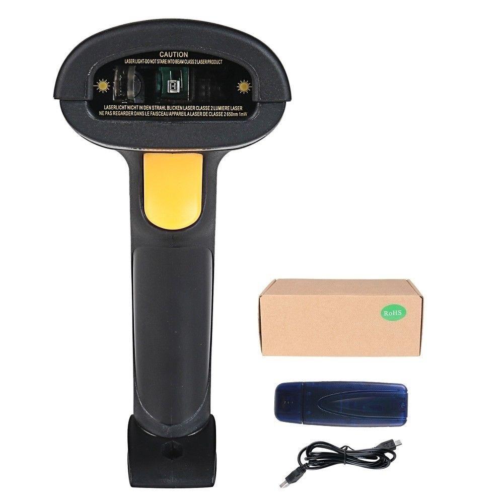 NIB 2 4G High Speed Wireless Laser USB Barcode Scanner Scan Gun Label  Reader (Size: 2 4G, Color: Bla