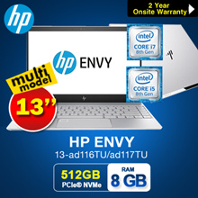 HP ENVY 13-ad115TU/ad116TU/ad117TU Notebook 1.23KG!!!( 8th Gen Intel i5-8250U 8GB 256GB  PCIe)  LIGH