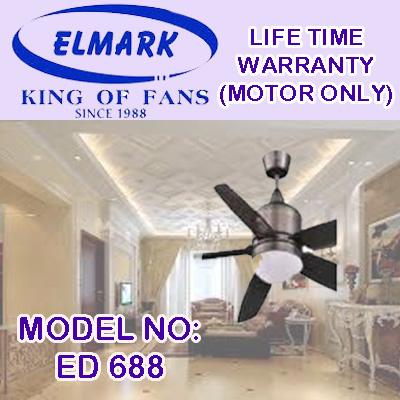 ELMARK CEILING FAN ED-866 AB/MS/WH/GM