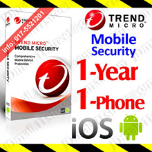 Trend Micro Mobile Security -1 YEAR 1 PHONE ***** Trendmicro Internet apple IOS android anti virus