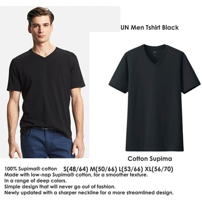 UN Men Tshirt Black