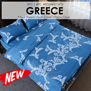 SOL HOME ® 800 Thread Count Bedsheet Set - Greece- Height 35cm
