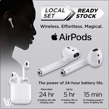 Authentic Apple AirPods **Singapore Direct Apple  1 Year Warranty** // use your coupon here