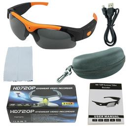 안경 DVD 카메라 선글라스 32GB 고 화질 720 P 5MP 오렌지 미니 카메라 디지털 카메라