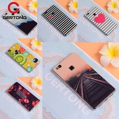 GerTong Cover Case For Huawei P10 P9 P8 Lite Mate 10 Pro 10 Lite Nova 2i Y6 Y3 Y5 2017 Pattern Back