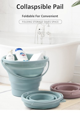 ❤Foldable Collapsible Pail❤ Bucket Tub Washing Cleaning Storage Organizer Container❤SG Seller❤