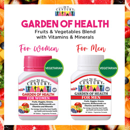 [21st Century] Fruits and Vegetable Blend Multivitamins - Garden of Health (For Women and Men)