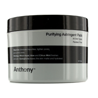 Anthony Logistics for Men Purifying Astringent Pads Rejuvenate & Correct Lifting Night Cream - Normal to Dry Skin 50ml/1.7oz