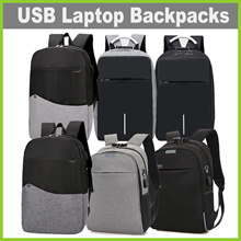 [LR1804] Laptop Backpacks with USB Charging ★ 6 Designs • Durable • Men • Women