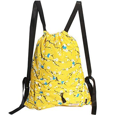 0183d9699fa4 ESVAN Drawstring Bag Original Backpack for Travel School Gym Beach 2 Sizes