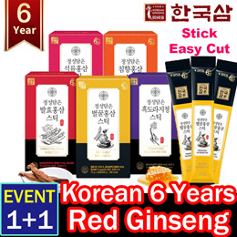 🔥1+1 EVENT🔥Korean Food🔥30day 1Box 🔥Korean 6 Years Premium honey Red ginseng Stick/improving immu