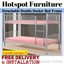 Detachable Double Deck  Bed Frame On Sale!!!100% Satisfaction Guarantee!!! In Stock ! Free Delivery