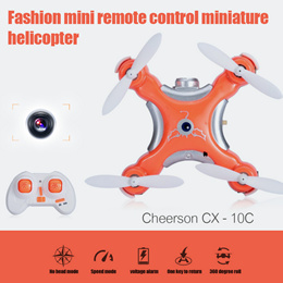 CX - 10C CX-10C CX10C Mini 2.4G 4CH 6 Axis Gyro RC helicopter Quadcopter drone with 0.3MP Camera Remote Control Toys