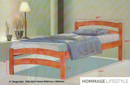 Solid Timber Single Bed Frame