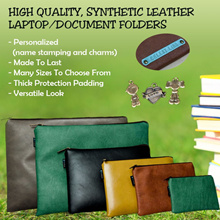 PERSONALIZED LAPTOP/MACBOOK/IPAD SLEEVE/HIGH QUALITY SYNTHETIC LEATHER