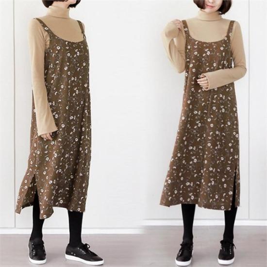 るみさん行き来するようにるみさんるみさんプルラウォリンビュスチェワンピース プリントのワンピース/ 韓国ファッション