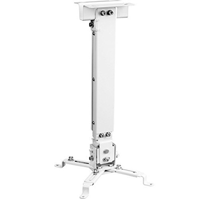 """WALI WL-PM-001-BLK Universal Projector Flat Ceiling Mount 25.6/"""" Extension Pole"""
