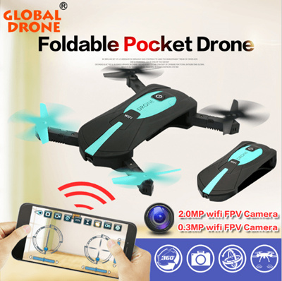 Global Drone Mini Pocket Drone JY018 wifi phone control Foldable Selfie RC Quadcopter Drones H37