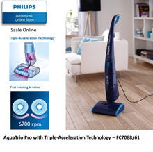Philips AquaTrio Pro with Triple-Acceleration Technology - FC7088/61 with 2 years warranty