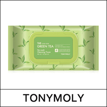 [TONY MOLY] The Chok Chok Green Tea No-Wash Cleansing Tissue 100 sheets