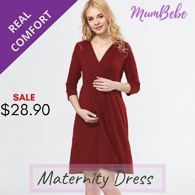 97b5271a6ea05 【DEEP V】Maternity Dress Maternity Clothes Pregnant Pregnancy Wear Newborn Baby  Nursing Breastfeeding