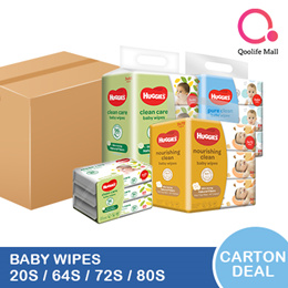 [Kimberly Clark] CARTON DEAL: Huggies Baby wipes [CLEAN CARE/ PURE CLEAN/ NOURISHING CLEAN]