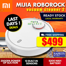 [Local Warranty]★ Xiaomi MIJIA ROBOROCK Mi Robot Vacuum Cleaner 2. Sweeping Mopping App Control