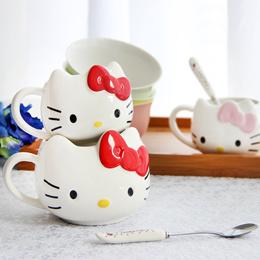 Doraemon mug voidwalker bone ceramic mug cartoon couple Cup scoop of coffee cup with lid jingle crea