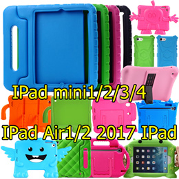 Drop Resistance Silicon Cover Case Stand Protective Cases Casing Shockproof Kids Child Handle Case