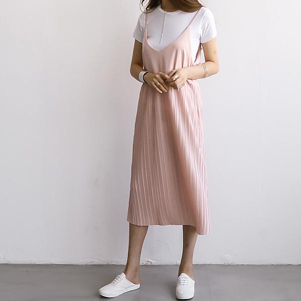 [送料無料]★韓国ファッション通販業界1位 『Naning9』★ライムズ・プリーツワンピース/ おしゃれなシルエットのファッションコーデー提案!ハイクォリティー/韓国ファッション/オフィスルック/